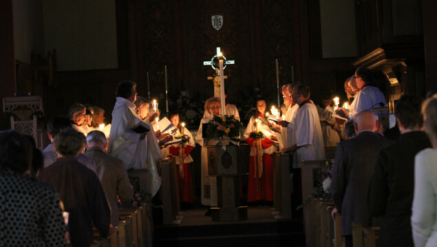 Easter Vigil service at 7:30 p.m. Saturday, April 19