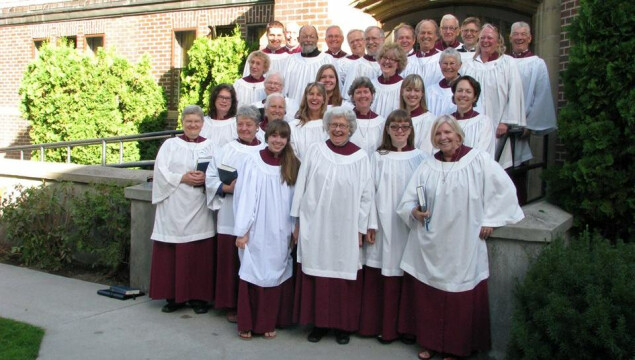 The Holy Spirit Choir sings at the 10:15 a.m. Sunday services