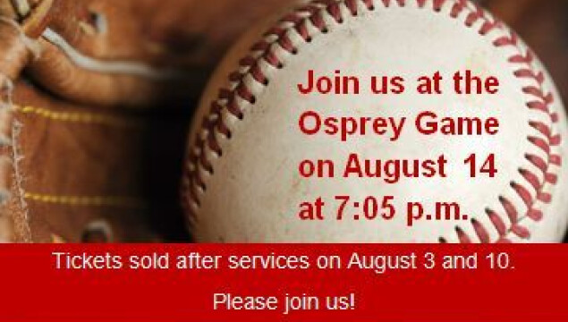 Join us for a baseball outing August 14