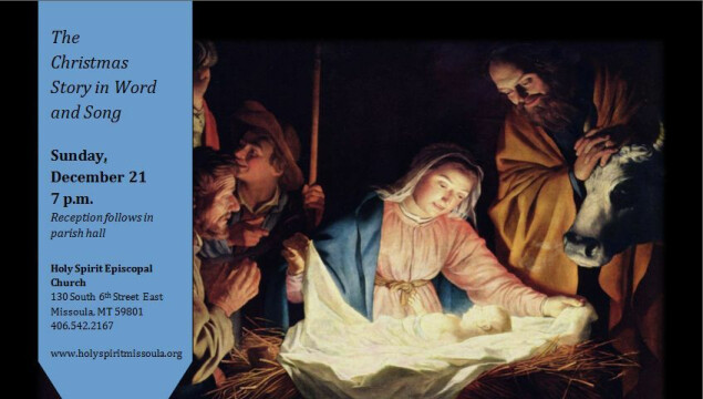 Join us for Lessons and Carols, Sunday, December 21 at 7 pm