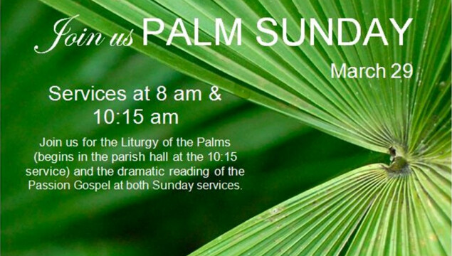 Click to see our complete schedule of Holy Week services