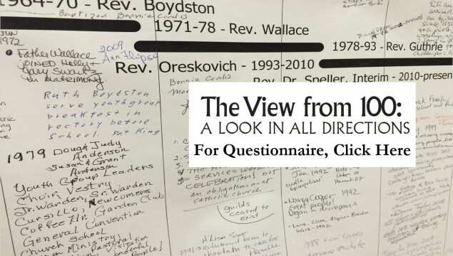 Click to provide your input in the View from 100 Questionnaire