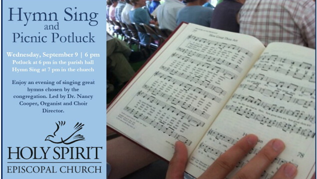 Join us for a Hymn Sing and Potluck September 9