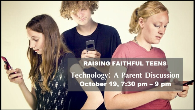 Join us for a parent discussion on Monday, October 19 at 7:30 pm