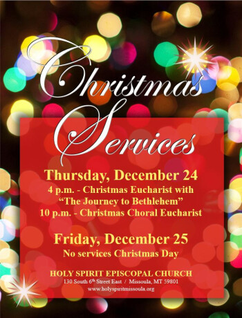 Holy Spirit Episcopal Church › Events › Christmas Day - No Church Service Today - Please join us ...
