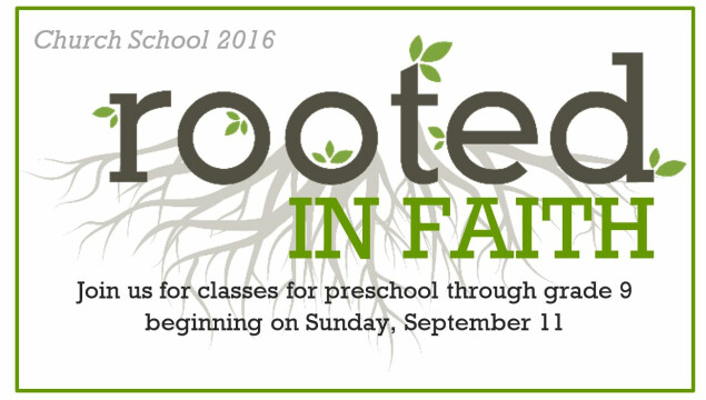 Church School Begins September 11
