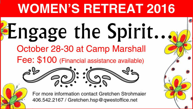 Mark your calendar for the Women's Retreat