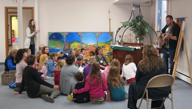 Church School for grades preschool - 9th grade during the 10:15 service