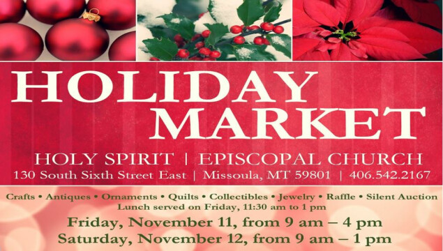 Mark your calendar for the Holiday Market, November 11 and 12