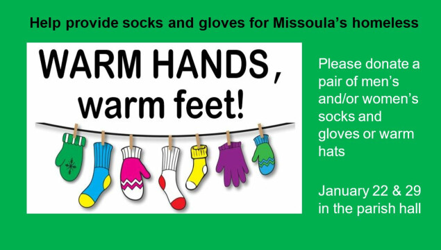Help us collect socks, gloves and hats!
