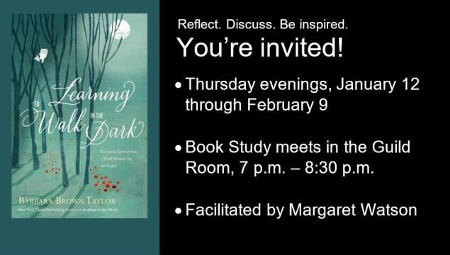 New Thursday evening class begins January 12