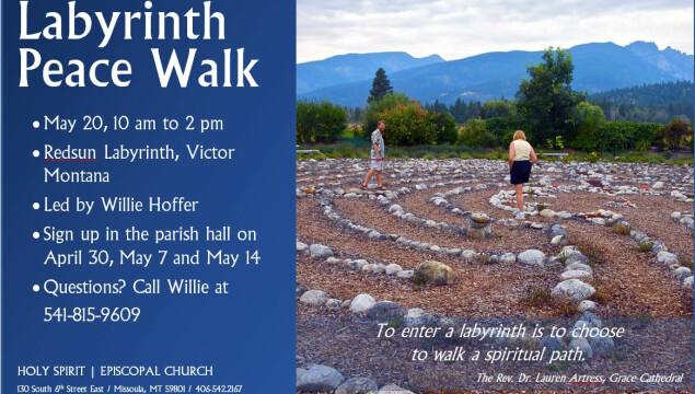Labyrinth Peace Walk on Saturday, May 20