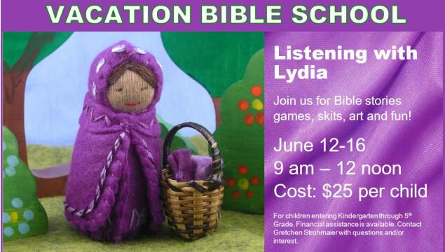 Vacation Bible School June 12-16