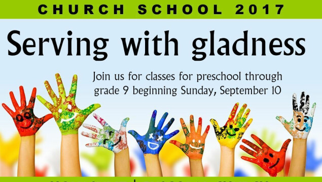 Church School for grades preschool - 9th grade during the 10:15 service