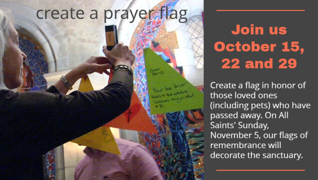 Create a prayer flag in honor of loved ones