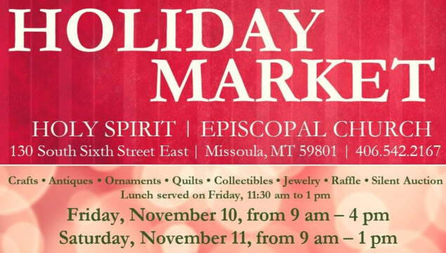 Holiday Market is coming soon! Nov. 10-11