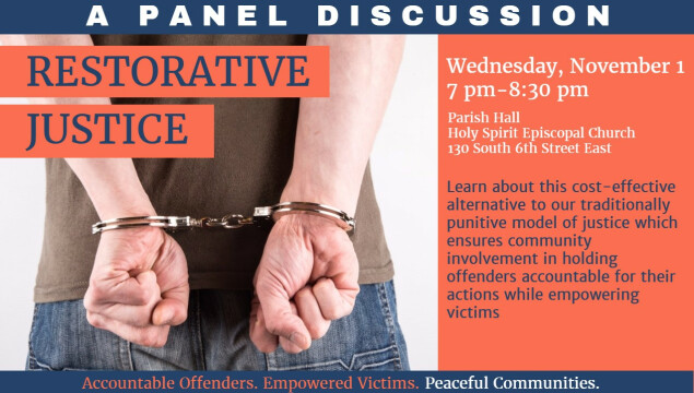 Restorative Justice Panel Discussion, November 1
