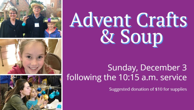 Advent Crafts and Soup December 3