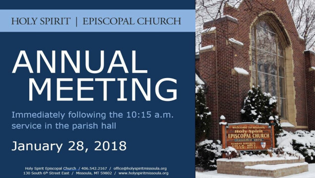 Join us for our Annual Meeting on Sunday, January 28