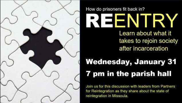 Join us for a discussion about the state of reintegration in Missoula