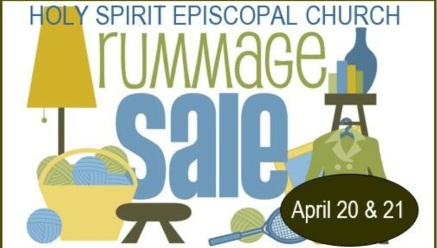 Rummage Sale is coming April 20 and 21!