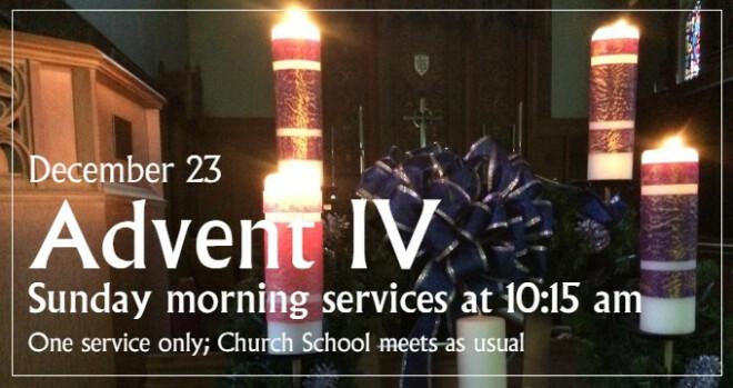 Worship Service at 10:15 am (no 8 am service today)