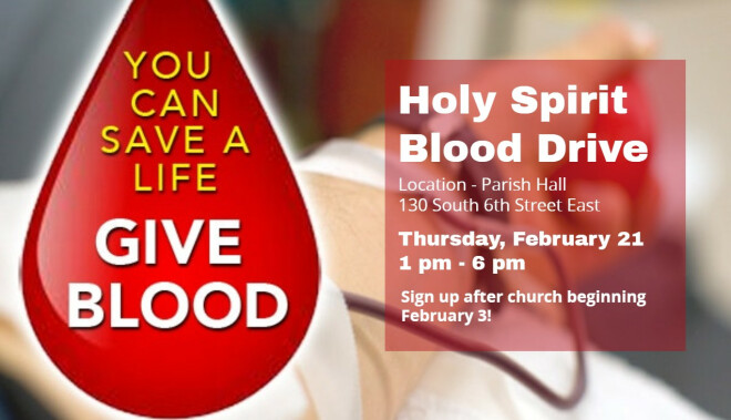 1 pm - 6 pm Blood Drive