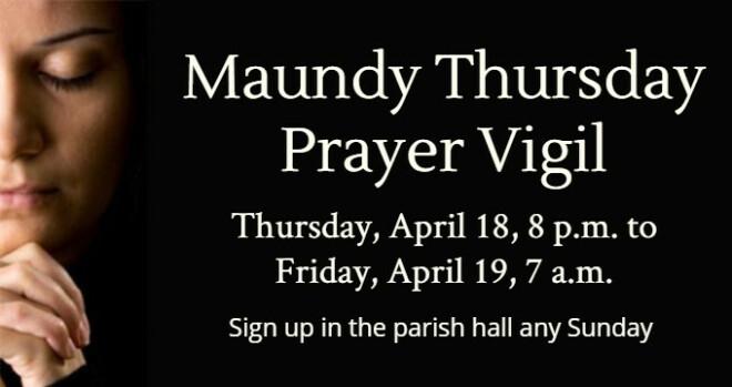 Maundy Thursday prayer vigil