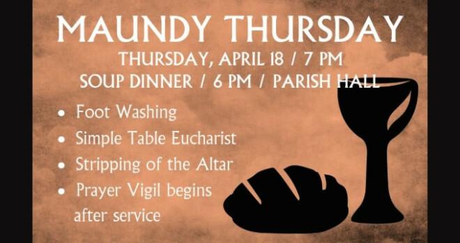 7 pm Maundy Thursday service