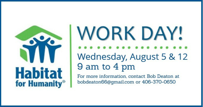 9 am - 4 pm Holy Spirit Work Day for Habitat for Humanity