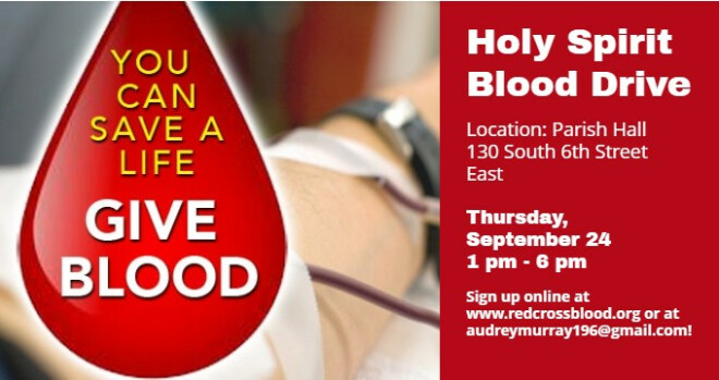 1 pm - 6 pm Red Cross Blood Drive