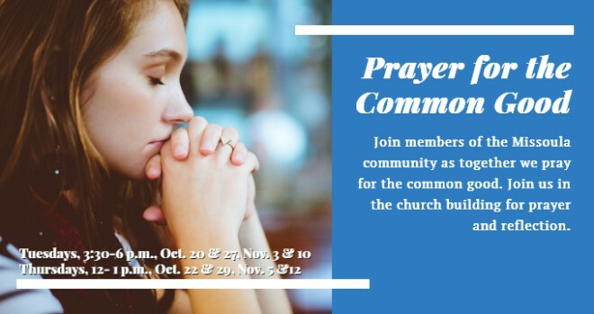 3:30 to 6 pm Prayer for the Common Good