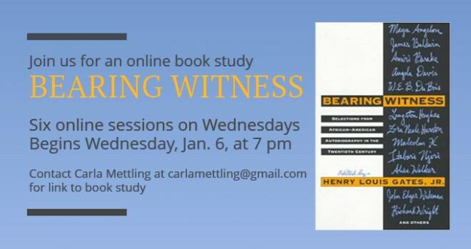 7 pm Bearing Witness book study