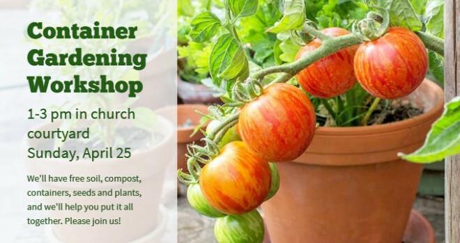 1 pm - 3 pm Container Garden Workshop
