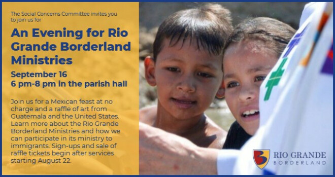6 to 8 pm An Evening for Rio Grande Borderland Ministries